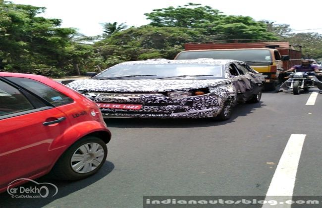 Mahindra S101 compact SUV spotted testing