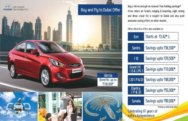 Buy Verna Hyundai, Win a trip to Dubai