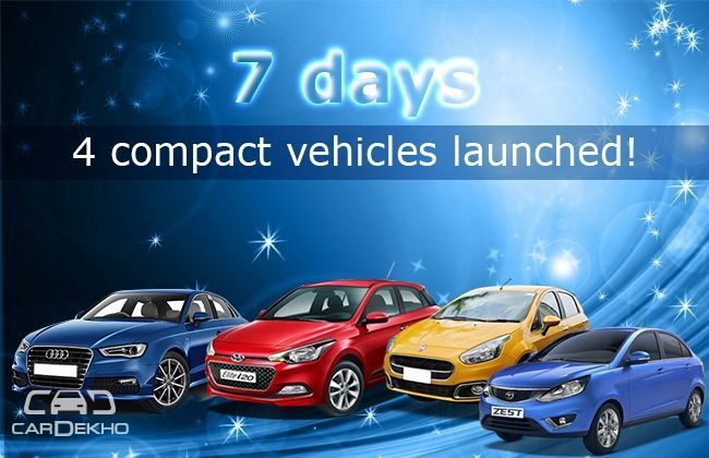 7 days - 4 compact vehicles launched!