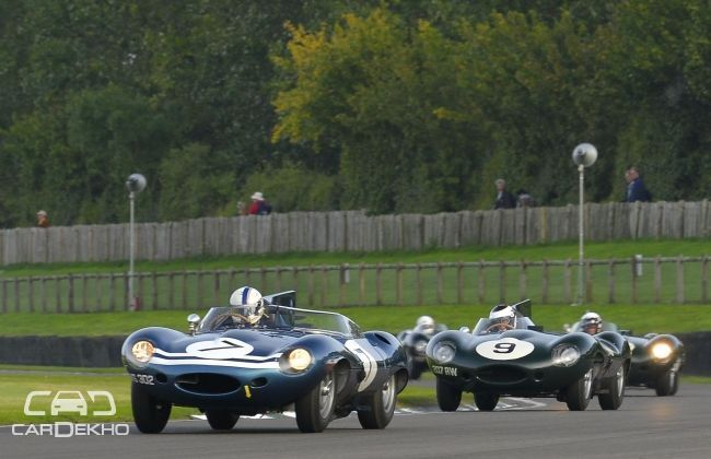 Le Mans winner Jaguars at Goodwood revival