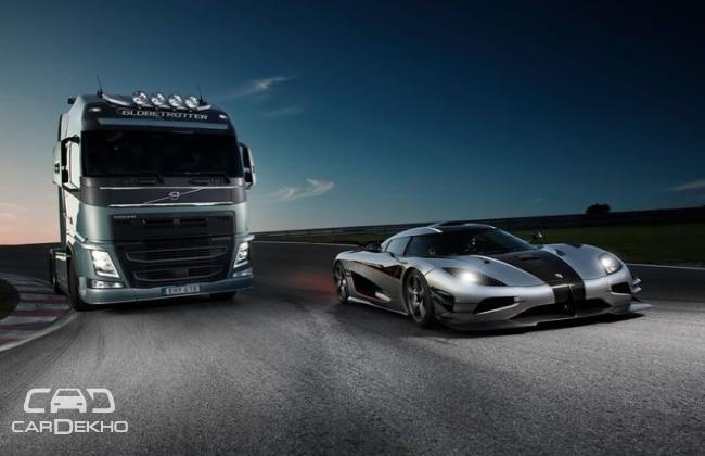 Koingsegg versus Volvo Fh