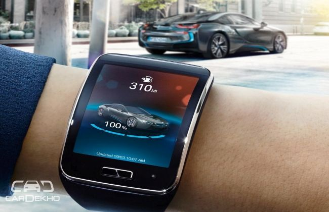 BMW i Remote App for Samsung Gear S smartwatch wins at 2015