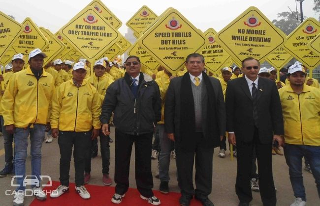 JK Tyre promotes National Road Safety Week in Delhi