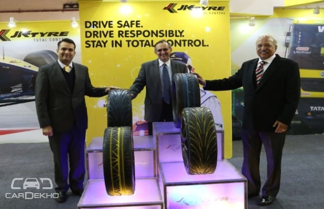 JK Tyre displays new product concepts at IRE 2015