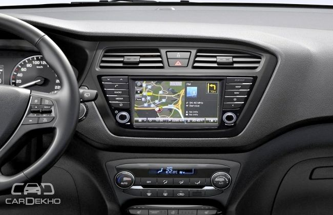 hyundai to offer touchscreen infotainment system in elite. Black Bedroom Furniture Sets. Home Design Ideas