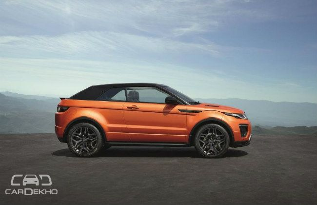 Range Rover Evoque Retractable Hard-top Deployed