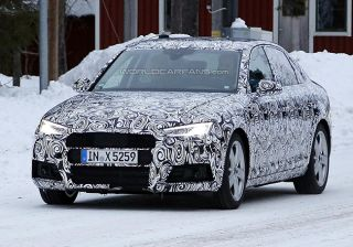 2016 Audi A4 spied flaunting its LED lights, unveil expected this year!