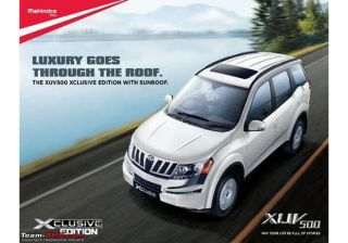 Mahindra Soon to Launch XUV500 W8 Xlcusive Edition With Sunroof and Other Blings!