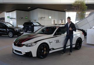 Marco Wittmann receives a BMW M4 DTM Champion Edition