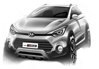 Hyundai Reveals Sketches of 'Already Spied i20 Active'; Indian Debut in March