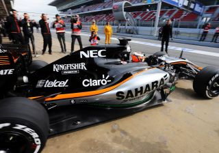 After All The Delays, Force India Finally Put Its F1 Car On Pre-Season Test