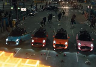 Mini Cooper S Makes the Pac-Man Ghost in the Upcoming Movie - Pixel Featuring Adam Sandler!