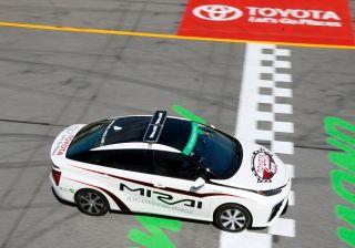 Toyota Mirai put through its paces on track