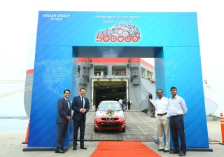 Nissan exports 500,000th car from India