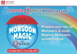 Toyota To Bring Monsoon Care Camp From 1st July to 31 July 2015