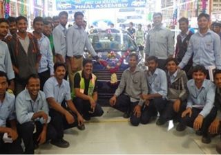 Ford Figo Aspire Launch Approaching: First Production Unit Dispatched from Sanand Plant