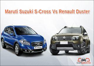 Compare Maruti Suzuki S-Cross Vs Renault Duster