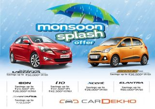Hyundai raining discounts up to Rs 70,000 in its Monsoon Splash Offer