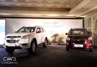 Chevrolet unveils Trailblazer & Spin; $ 1 Billion to be invested in India