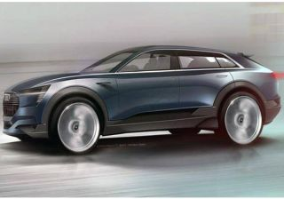 Official e-tron quattro concept sketches revealed by Audi