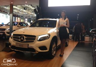 India Bound GLC Showcased by Mercedes-Benz at IIMS 2015