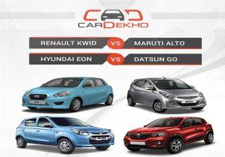 Renault Kwid vs Maruti Alto vs Hyundai Eon vs Datsun Go