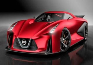 Nissan Vision GT Showcased in Red Color Scheme