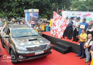 Toyota Kirloskar Motor Provided Vehicles for the BBIN Friendship Rally 2015