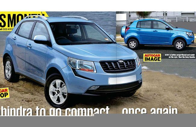 Mahindra S101 Compact SUV Caught Testing, to Rival EcoSport and Duster