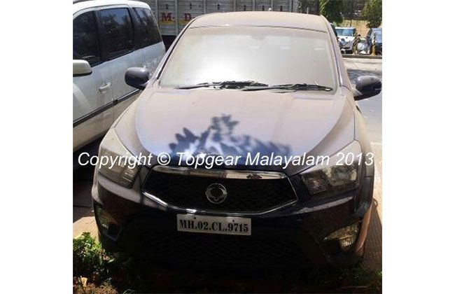 Ssangyong Actyon Sports Lifestyle Pickup Spied