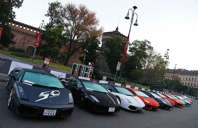 Lamborghini 50th Anniversary Grand Tour starts