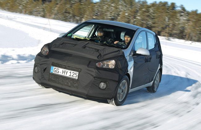 New Hyundai i10 Put on Road Test in Sweden; Details