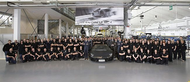 2000th Lamborghini Aventador Produced