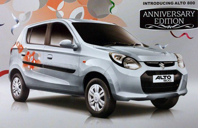 Maruti Suzuki India Launches Alto 800 Anniversary Edition