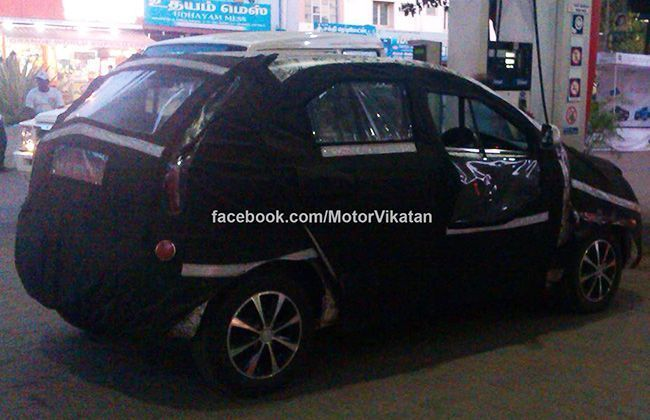 Tata Indica Vista Facelift Spied; to debut at 2014 Indian Auto Expo