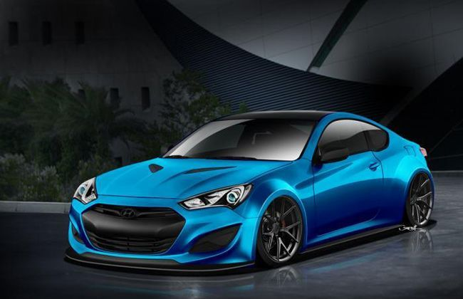 Hyundai Atlantic Blue Genesis Coupe Concept Teased; debut at SEMA