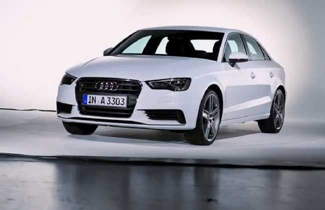Audi may unveil A3 sedan in 2014 Indian Auto Expo