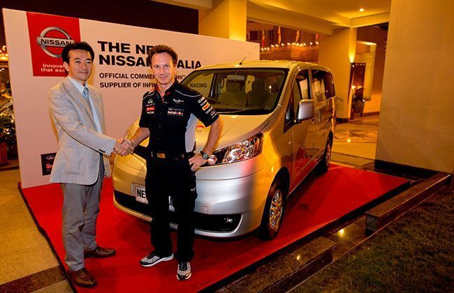 Nissan Evalia drove Infiniti Red Bull Racing Team at 2013 Indian Grand Prix
