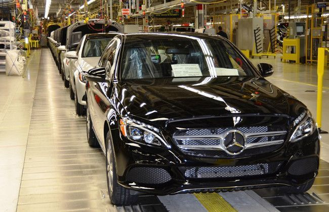 mercedes benz c class production started at tuscaloosa