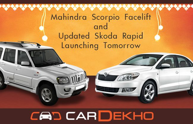 Mahindra Scorpio, Skoda Rapid Launching Tomorrow