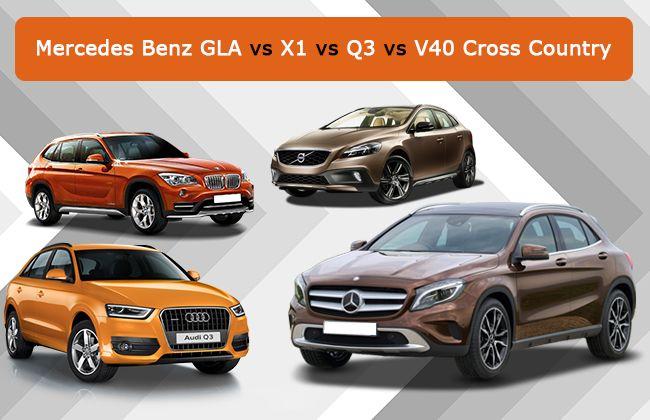 Mercedes Benz GLA takes on Audi Q3, BMW X1 & Volvo V40 Cross Country