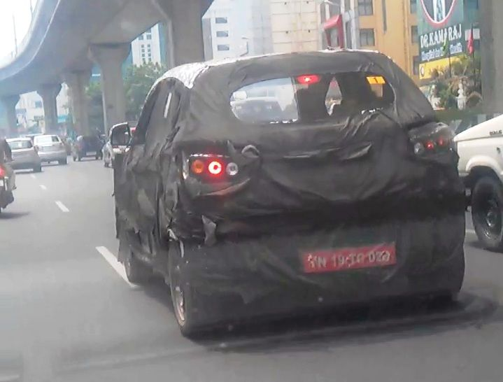 Mahindra S101 compact SUV spied testing in Chennai