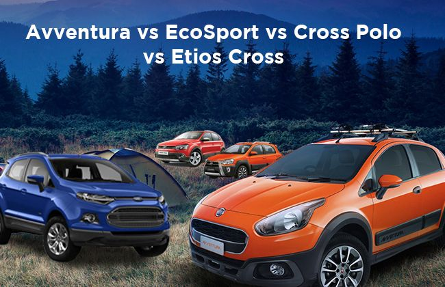 Fiat Avventura vs Ford EcoSport vs VW Cross Polo vs Toyota Etios Cross