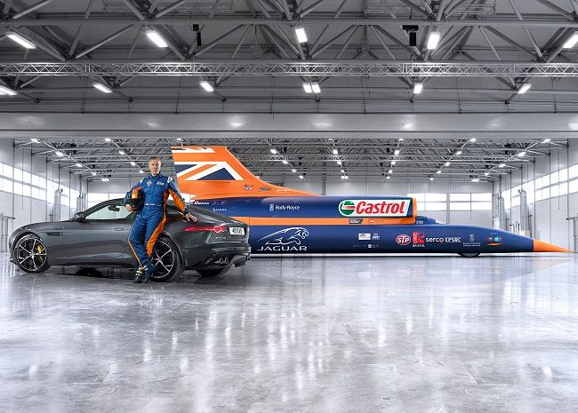 New All-Wheel drive Jaguar F-Type R helps Bloodhound SSC