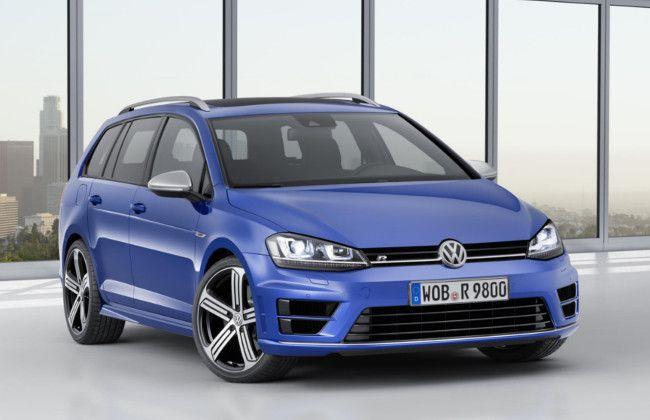 Volkswagen unveils New Golf R Estate model in 2014 LA Motor Show