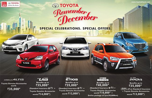 Toyota Offering Special Benefits on its Popular Models