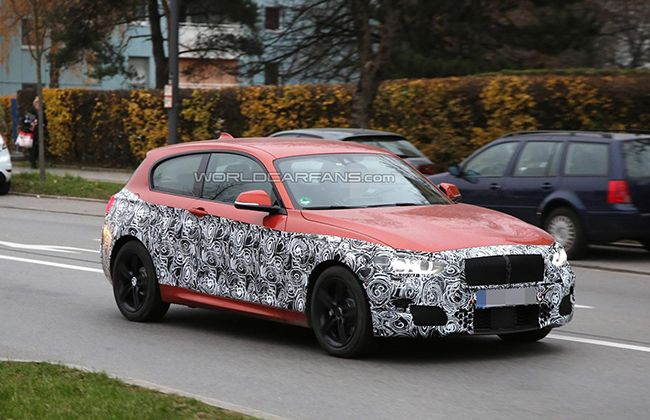 2015 BMW 1 Series Facelift Spied