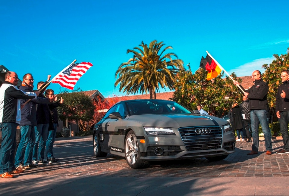 Audi A7 piloted driving concept drives from Silicon Valley to Las Vegas