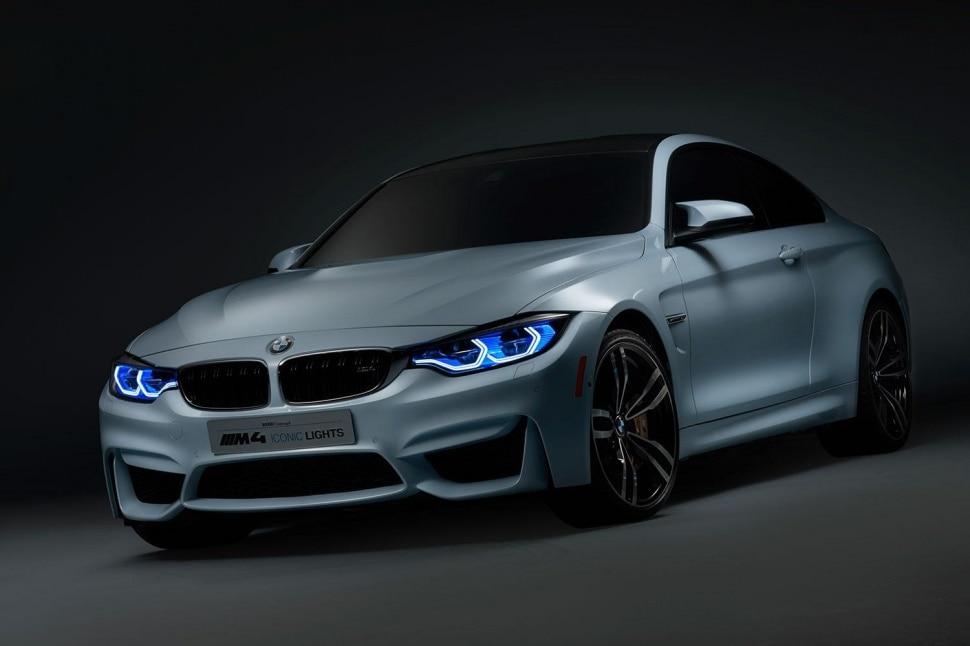 BMW Illuminates M4 Concept car with Iconic Lights