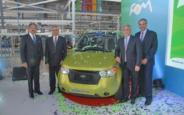 Anand Mahindra Inaugurates Reva's Green Electric Vehicle Manufacturing Plant